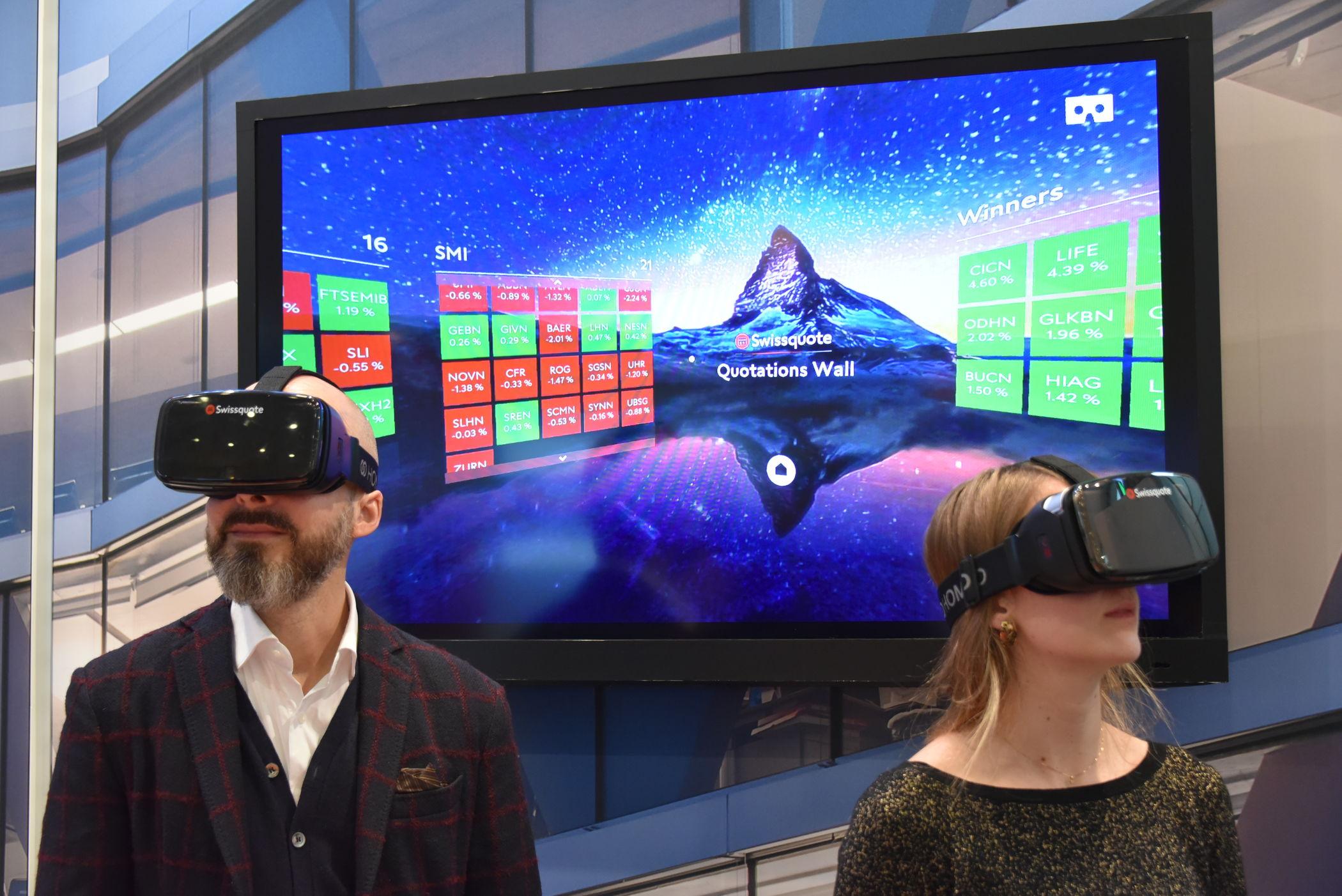 Swissquote lanciert erste Trading-App für Virtual-Reality-Brille.
