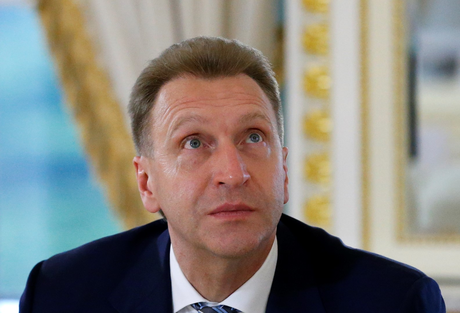 Russia's First Deputy Prime Minister Igor Shuvalov attends a meeting of President Vladimir Putin with members of Russian Direct Investment Fund and foreign investors in St. Petersburg, Russia, June 16, 2016. REUTERS/Grigory Dukor - RTX2GN8N